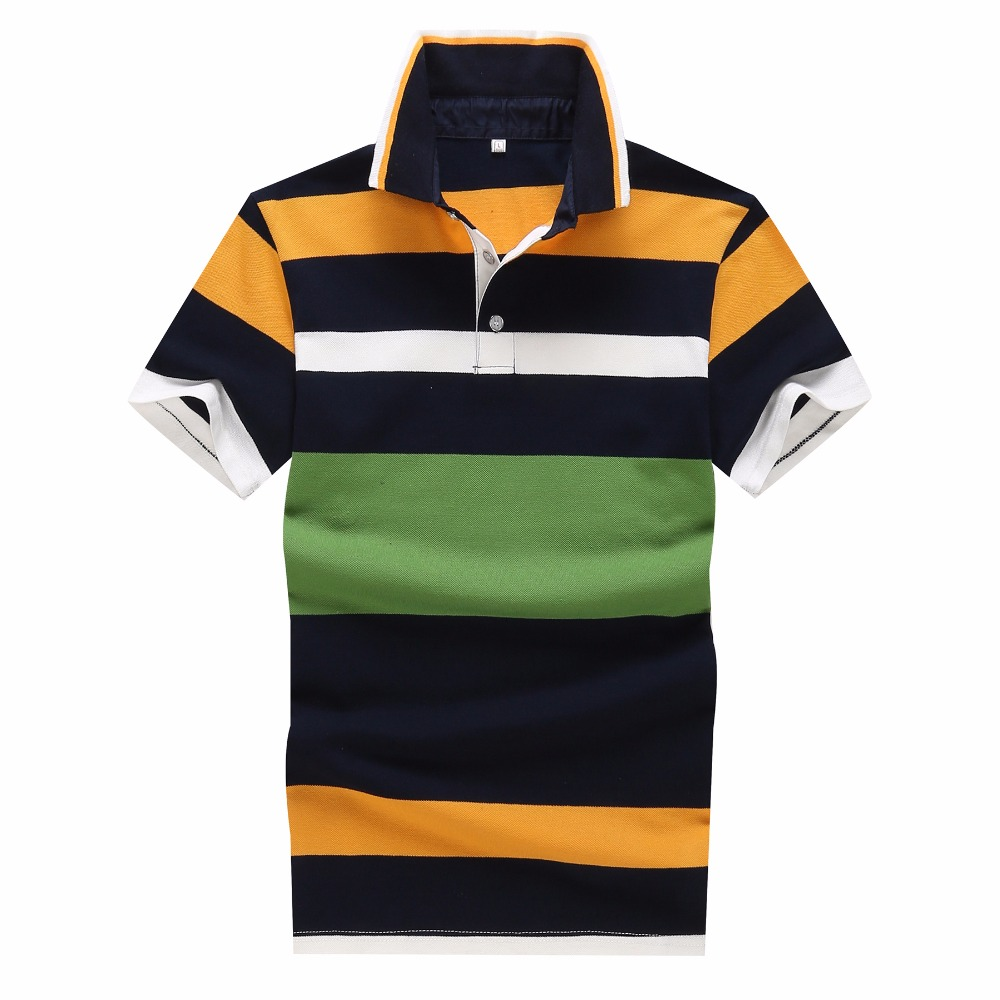 YG6188 XY1011 The new summer 2017 middle aged short sleeved cotton stripe Polo shirt business men