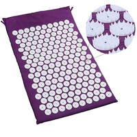 Acupressure Mat And Pillow Two In One Set Body Head Back Foot Massage Cushion Shakti Mat