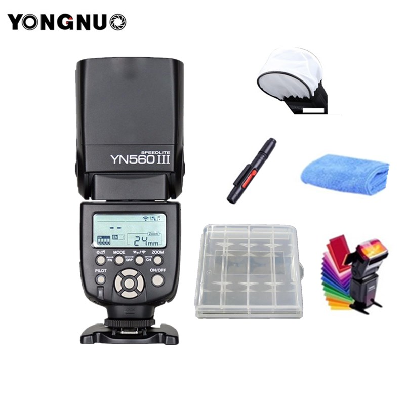 YONGNUO YN560III YN560-III YN560 III Wireless Flash Speedlite Speedlight For Canon Nikon Sony Olympus Panasonic Pentax Camera 2 pcs yongnuo yn560 iii yn560iii flash speedlite flashlight for canon nikon