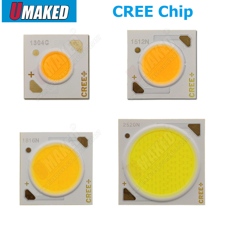 10pcs Original Cree CXA 10W CXA1304 15W CXA1507 24W CXA1512 65W CXA2530 Cold / Warm White 5000K, 3000K COB Led XLamp Chip Light