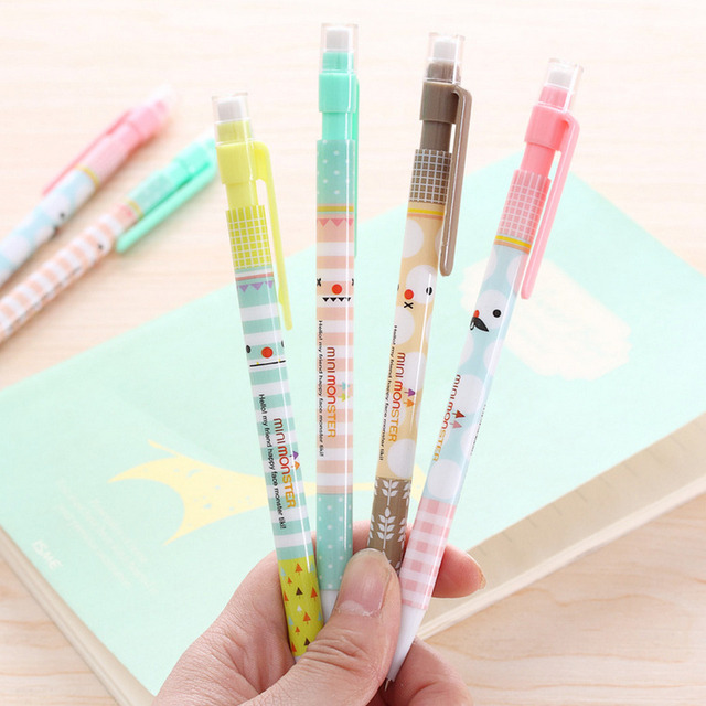 Nouveau 0.5mm Mignon Kawaii En Plastique Mécanique crayon Belle Moustache Hello Kitty Automatique Stylo pour Écrire Dessin Livraison gratuite 287
