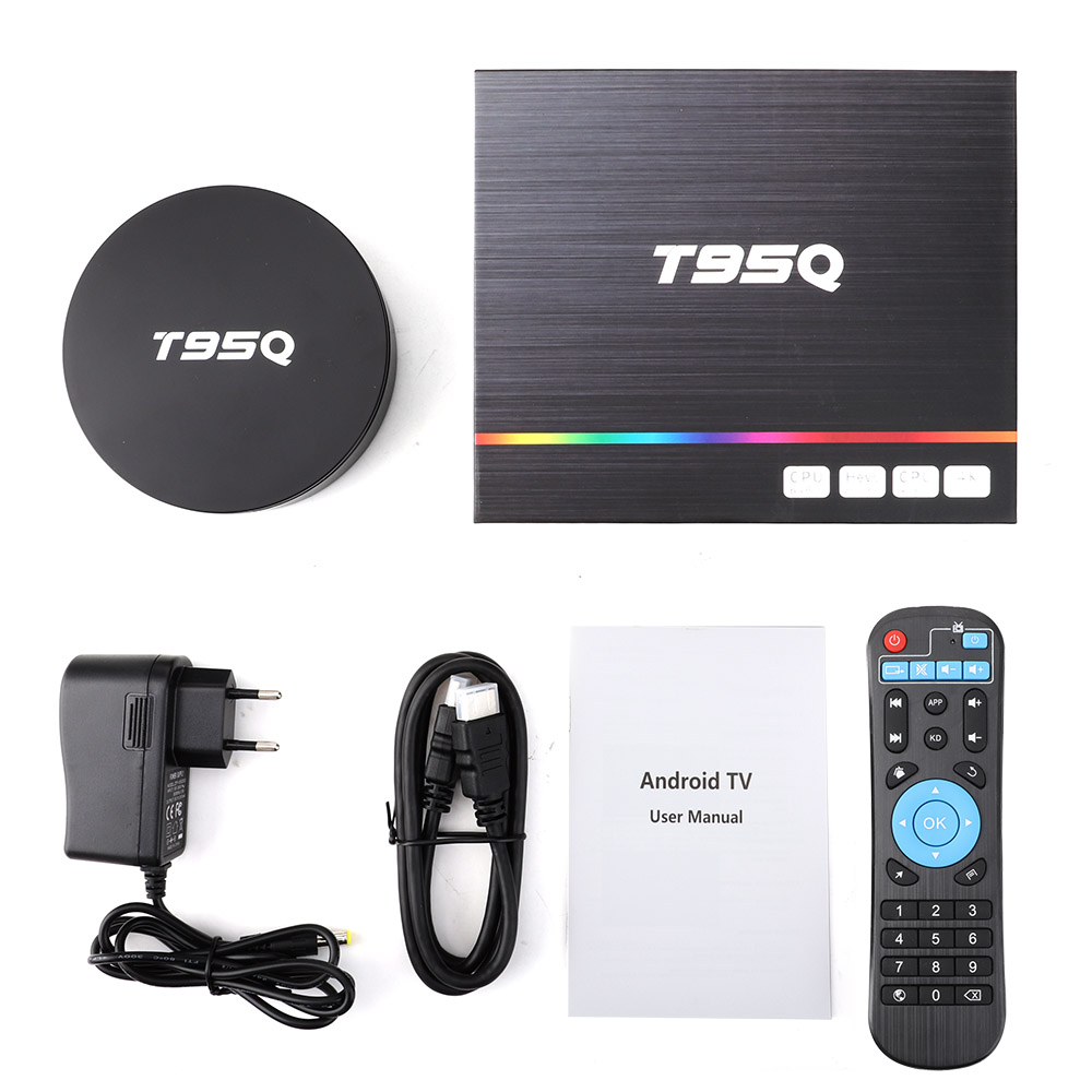 T95Q Android TV Box Android 9.0 Amlogic S905 Y2 4GB DDR4 32GB ROM 2.4G 5G WiFi USB3.0 BT 4.2 Support 4K H.265 lecteur multimédia intelligent - 6
