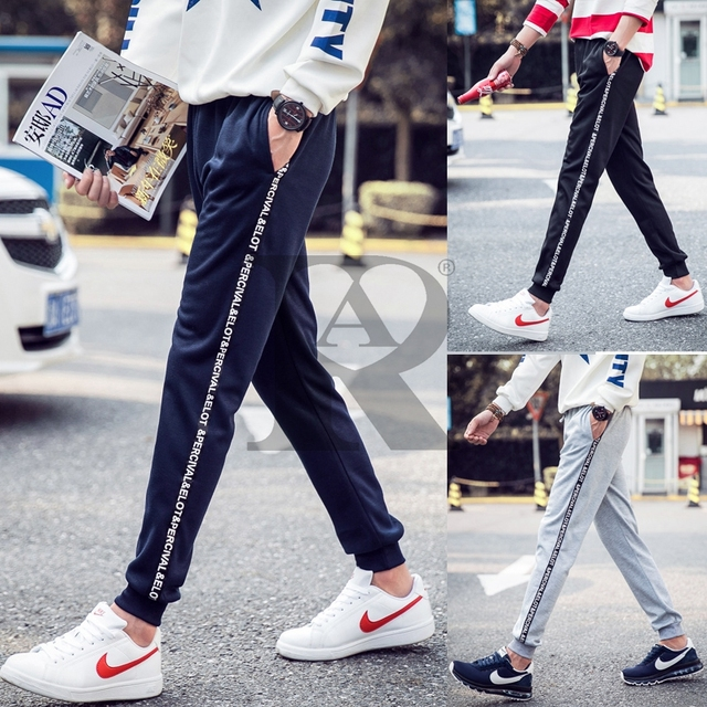 2017 AR fashion new Men's trousers joggers hip fitness pantalon homme casual pant  sweatpants M-5XL full size 4 color Letters