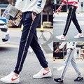 2017 AR moda novas calças dos homens corredores hip fitness pantalon homme moletom calça casual M-5XL tamanho completo 4 cores letras