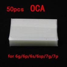AliSunny 50pcs OCA Film for iPhone 6 6S 7 Plus 5 5S 6G 6Plus Clear Optical Adhesive LCD Touch Glass Lens Film OCA Glue