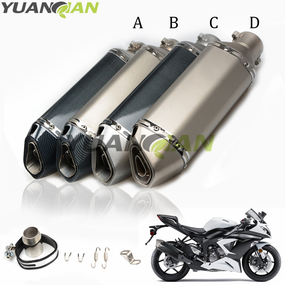 36-51mm Motorcycle Modified Exhaust pipe Muffler Exhaust scooter For Yamaha FZ1 FAZER FZ6R FZ8 XJ6 FZ6 MT-07 09 FZ-09 mt 09 10 цены