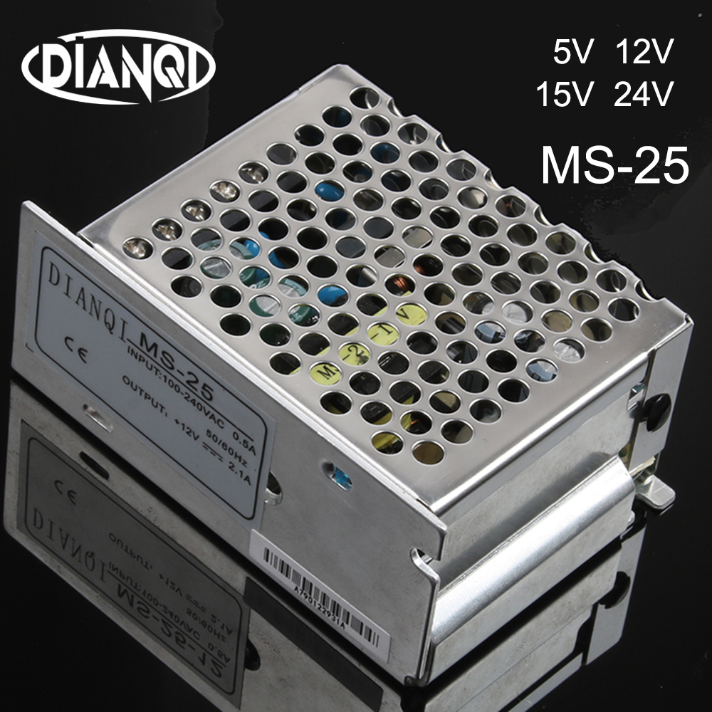 DIANQI switching power supply unit dc voltage MS-25w 5v 12v 15v 24v mini size din led ac dc converter MS-25-5 MS-25-12 MS-25-24 image