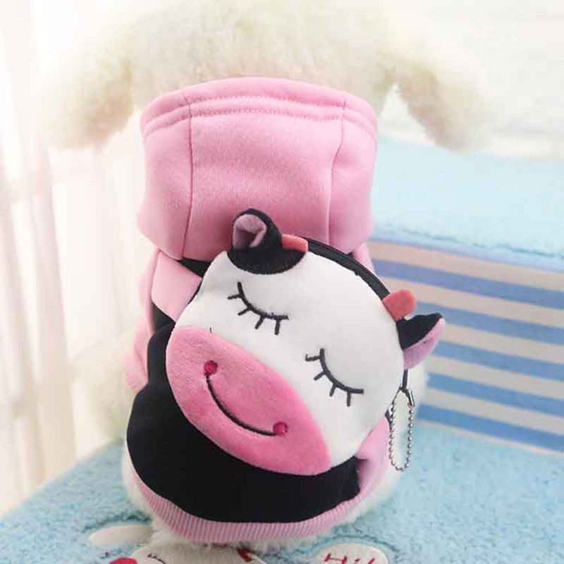 New Fashion Dog Clothes Cute Coin Pocket Cartoon Sweater Spider - Man Superman Cat New Fall Winter Pet clothing Dog Hoddies