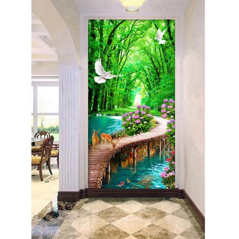Youran Diamante Verticale Pittura Scenic diy 5d Diamante Ricamo Kit Home Decor Diamante Mosaico Cucito Decorazione Della Casa