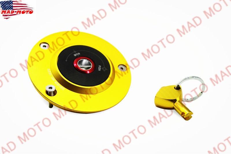 MAD MOTO CNC Gold/Black Fule Cap/Gas Tank Caps For Suzuki GSX R 600 / 750 GSX R 1000 SV 650/SV 650 S GSX 1300 R HAYABUSA motorcycle brake fluid reservoir clutch tank oil fluid cup for suzuki gsxr600 gsxr750 gsxr 650 750 gsf gsx gsx r rf rgv sv tl