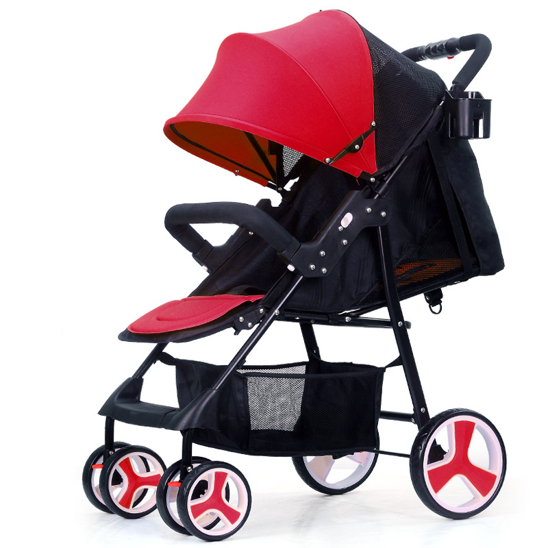Portable Baby Cart Travel System Baby Stroller Portable Umbrella Ultra Light Stroller Carriage Reclining Baby Lying Stroller цена
