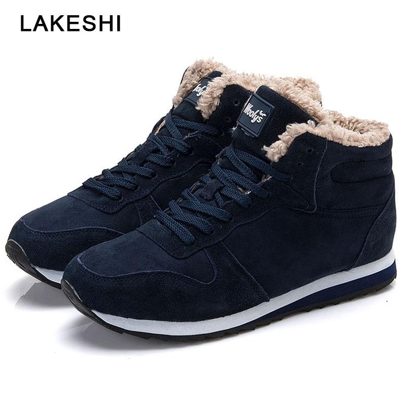 2019 New Men Boots Winter Shoes Plush Warm Snow Boots Men Shoes Ankle Boots Men Casual Shoes Male Shoes Adult Men's Sneakers