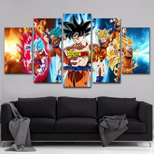 Artryst Modern Home Decor Paintings On Canvas Posters 5 Panel Anime Dragon Ball Framework Pictures Prints On The Wall