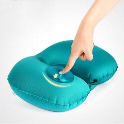 U-Shape Automatic Inflatable Travel Pillow Neck Pillow Car Air Inflatable Pillows Neck Cushion Travel Headrest Folding Portable