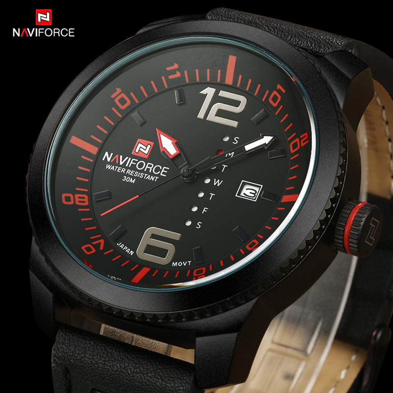 2016 New NAVIFORCE Fashion Watches Men Luxury Brand Men's Quartz Hour Date Clock Sports Watch Man Army Military Wrist Watch 2016 men s brand naviforce fashion sports watches men 3d dial quartz watch man nylon strap army military wrist watches
