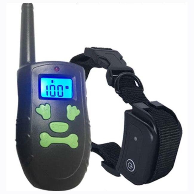 PT183 Psí výcvikový obojek 300m / 330 Yard Elektronické zařízení Skull Button Klávesnice BLue LCD s Safe Beep Vibration Shock pro psa