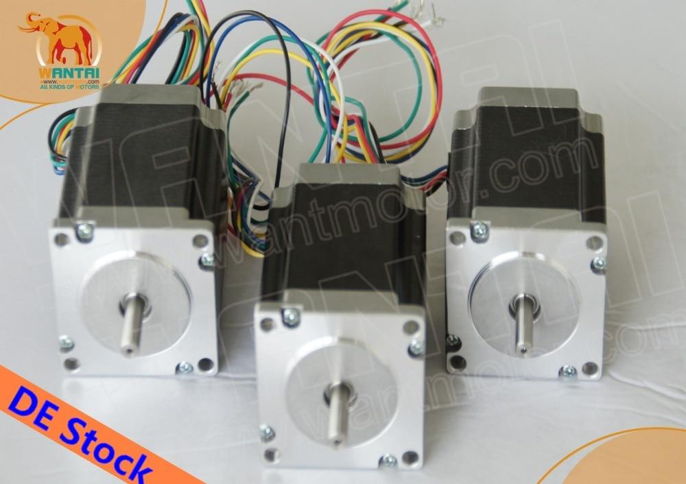 ФОТО Hot Sale! Wantai 3PCS Nema23 Stepper Motor 57BYGH627 3.0A  270oz-in 76mm 4-lead CE ROHS ISO CNC Router 3040