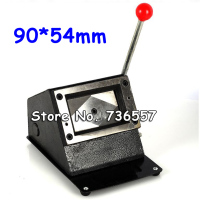 Free Shipping Heavy Duty 90 54mm Right Straight Angle Manual Business Card PVC Card Puncher Manual