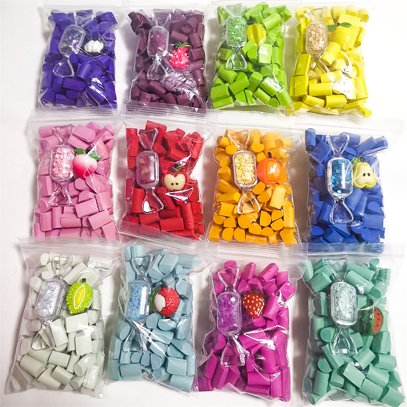 Multicolor Sponge Slime Bead Chunks Lizun Addition Slime Supplies Accessories Filler Charms For Slime Foam Clay Mud