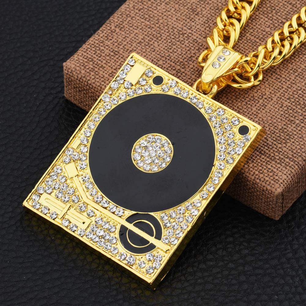 Hiphop for for nec klace personality vintage graphophone necklace pendant dj hiphop 80CM length