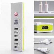 Novo 6 USB Adaptador de Energia AC Carregador Rápido Universal Portátil Móvel telefone Carregador de Parede 5 V 6A Para o iphone 6 6 s iPad Samsung Xiaomi