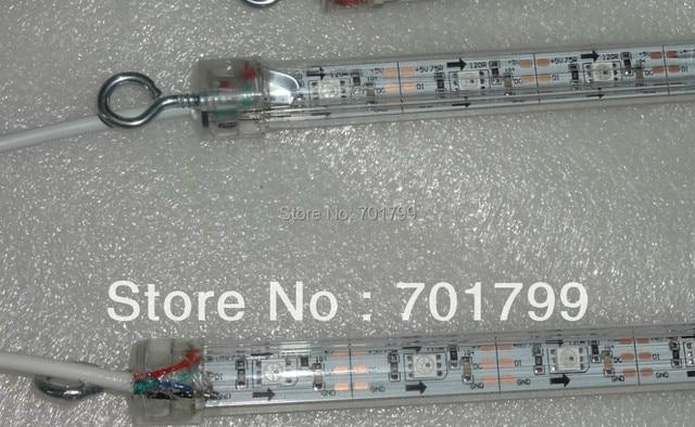 1m long WS2812 digital meteor light;snowfall light,DC5V input,64pcs WS2812 LED,double side,32pixel per meter
