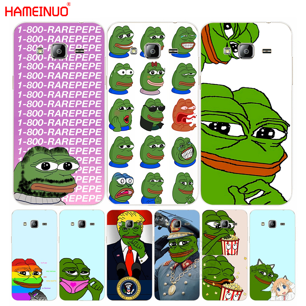HAMEINUO Internet Meme Smug Frog Pepe cover phone case for Samsung Galaxy J1 J2 J3 J5 J7 MINI ACE 2016 2015 image