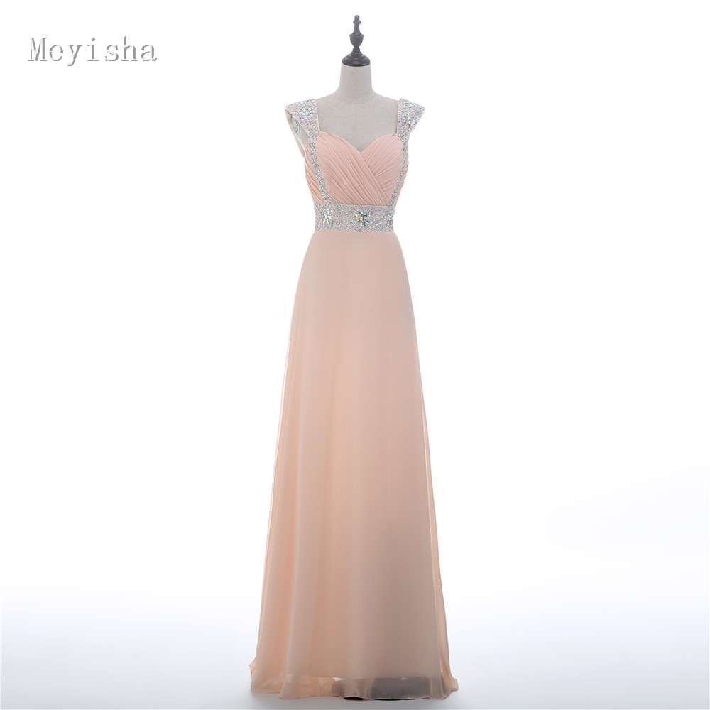 US $46.79 28% OFF|ZJ0007 champagne color Spaghetti Strap chiffon flower  evening dress long maxi plus size fashional design-in Evening Dresses from  ...