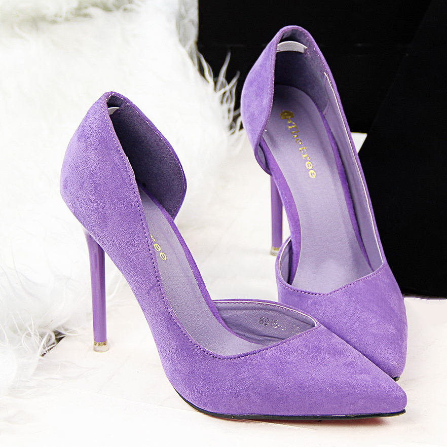 Women Pumps High Heel Shoes Pointed Toe Ladies High Heels Shoes Bridal Wedding Shoes Flock fashion women high heel thick heel shoes ointed toe pumps dress shoes high heels boat shoes wedding shoes