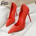 Diseñador de la marca zapatos de las mujeres de lujo 2017 zapatos de tacones altos mujer bombas de las señoras de oficina zapatos de tacón alto de la boda negro rojo