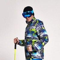 Модная профессиональная Лыжная куртка + брюки, комплект, водонепроницаемая ветрозащитная теплая верхняя одежда для катания на лыжах, сноуб