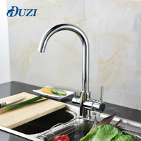 DUZI Drinking Water Filter Faucet Chrome Kitchen Sink Tap 360 Degree Rotation 3 Way Water Filter