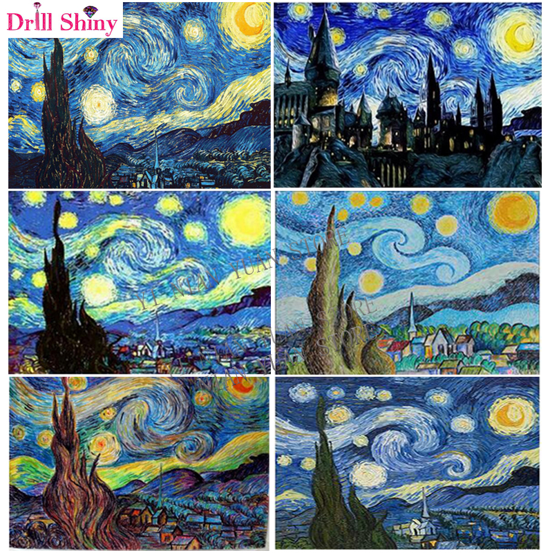 Starry Night 5D Full Drill Diamond Painting Embroidery DIY Cross Stitch //ND
