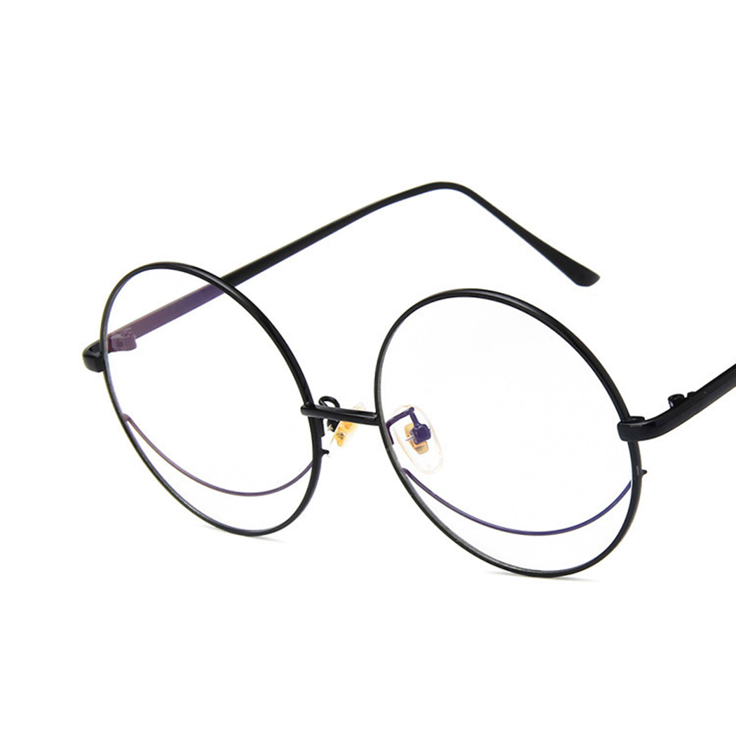 efe23c4c261 Fashion Brand Oversized Round Eyeglasses Frame Women Men 2018 Vintage Clear  Lens Metal Bookworm Classic Mirror Glasses Frame-in Eyewear Frames from  Apparel ...