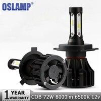 Oslamp H4 H7 H11 H1 LED Car Headlight Bulbs Hi Lo Beam COB 72W 8000lm 6500K