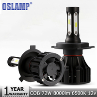 Oslamp H4 H7 H11 H1 LED Car Headlight Bulbs Hi Lo Beam COB 72W 8000lm 6500K