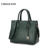 CHSANATO Hot Sale Famous Brand Women Designer Handbag High Quality Genuine Cowhide Leather Bag Luxury Ladies Purse Shoulder Bag