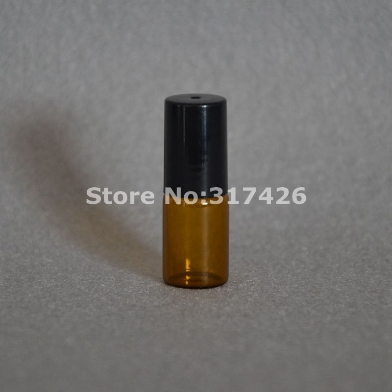 3ML Amber Roll On Roller Bottle for Essential Oils Refillable Perfume Bottle Deodorant Containers with Gold lid livolo us standard wireless remote touch screen light switch 3gang 1way black crystal glass vl c303r 82 no remote controller