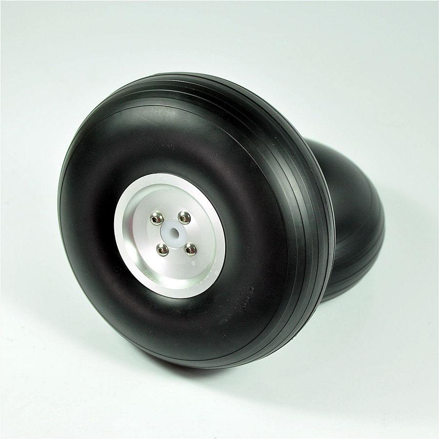 """1 par RC Airplane 7,0 """"/177,8mm CNC/diámetro fundición de aluminio cubo PU ruedas para fijo ala del aeroplano de RC-in Partes y accesorios from Juguetes y pasatiempos    1"""