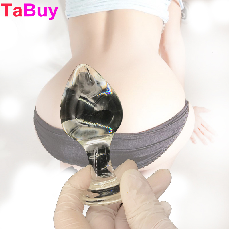 Tabuy Big Glass Anal Plug Adult Male Female Masturbation Crystal Anal Dildo Sex Products Butt Plug 45*95 mm Sex Toys new anal dildo realistic dildo with strong suction cup fake penis long butt plug anal plug sex toys for women sex products
