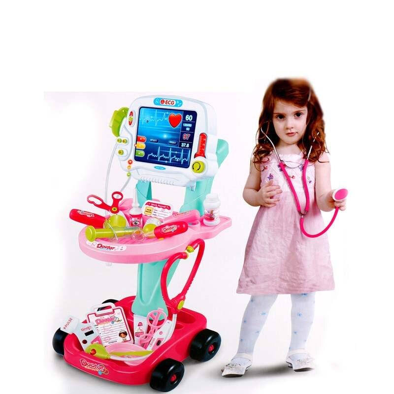 Детские ролевые игры доктор игрушки Моделирование кран наборы измерительный инструмент модель игрушки для обучения ребенка развивающие