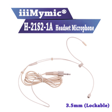 Iiimymic H 21S2 1A fone de ouvido microfone condensador cardióide para sennheiser sem fio bodypack transmissor 3.5mm 3.35mm lockable