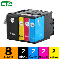 8pcs Ink Cartridge With Chip Compatible For 932XL 933 Officejet 6100 6600 6700 7110 7612 7610