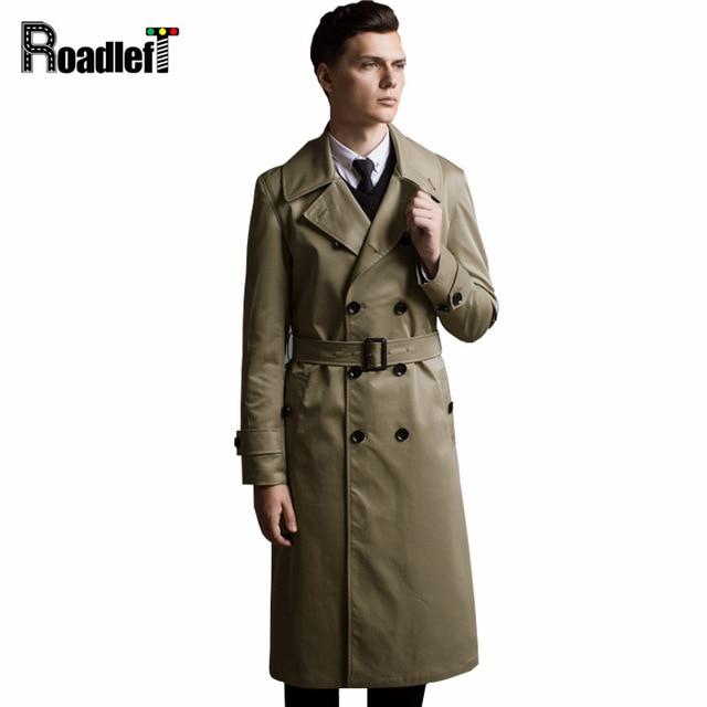 Autumn Winter Extra Long Trench Coat Men Slim England Style Coats ...