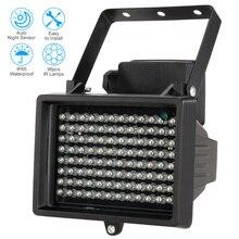 Iluminación LED infrarrojo IR para exteriores, 96 Uds., lámpara LED de asistencia para visión nocturna, resistente al agua, para cámara de vigilancia CCTV
