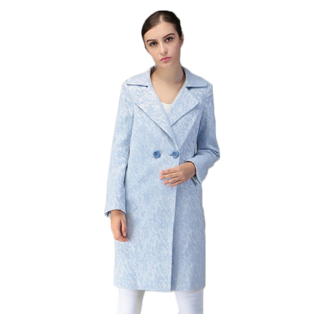 2017 Spring New Arrival Women's Work Suit Women Long Outerwars Puls Size Female Winter Dust Coats Lady Elegant Jacket ParkaF1854