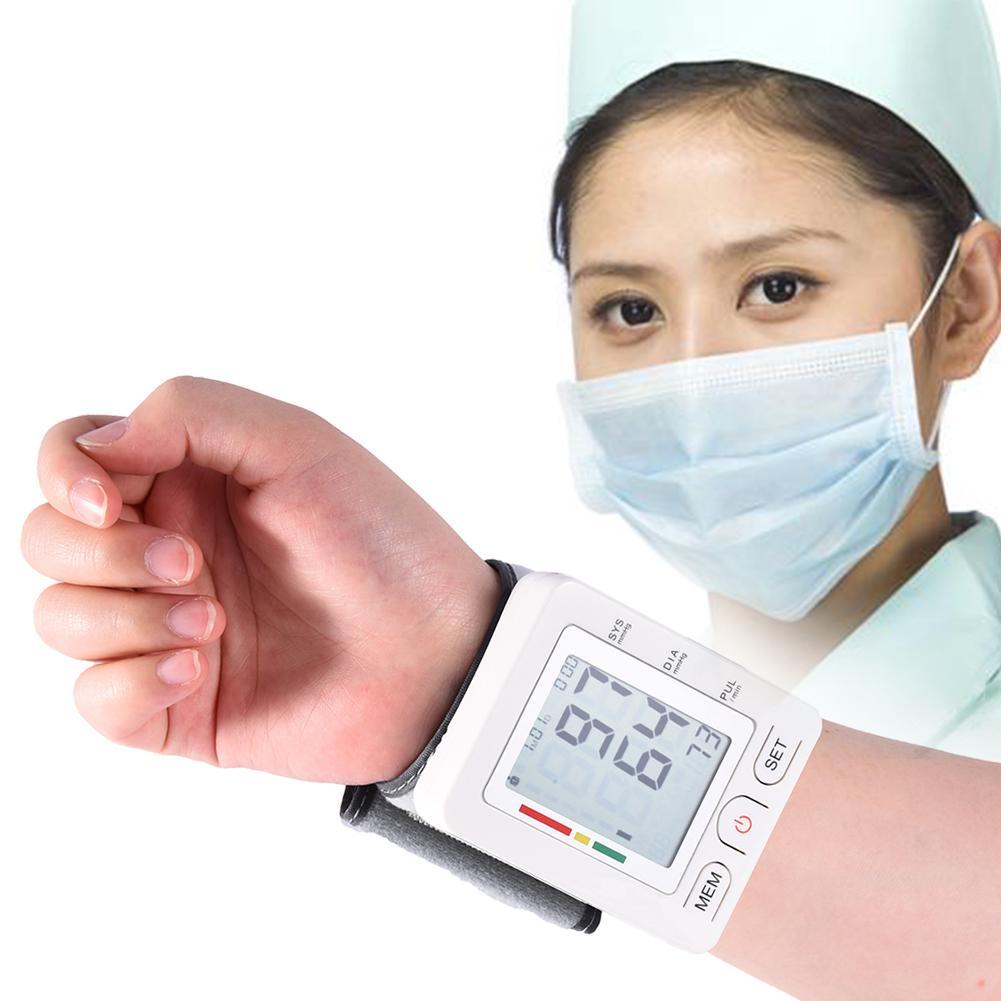 U60EH Dual Mode Bluetooth Wrist Cuff Wrist Sphygmomanometer Blood Pressure Meter Monitoring Heart Rate Pulse Portable Tonometer