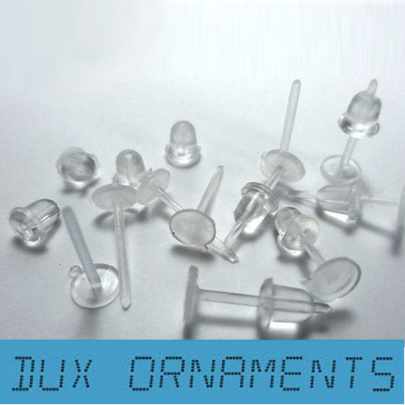 Safety Pins Wholesale Hypoallergic Flat Back Studs with Post 3mm Or 5mm Glue On Pad Earring Findings Setting