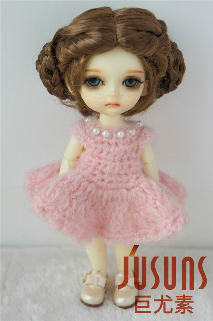 купить JD177 1/8 Ballet synthetic mohair wig 5-6 inch Lati yellow  BJD doll wig  Vinyl doll play doll wigs дешево