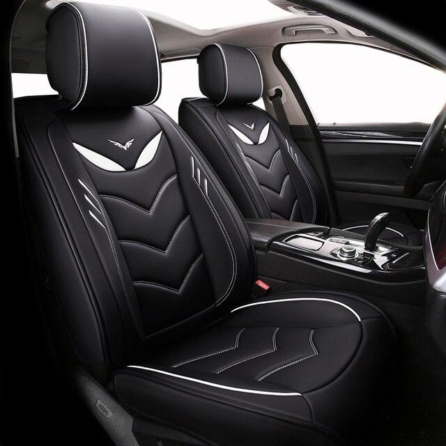 (Спереди и сзади) Специальные кожаные чехлы на автомобильные сиденья для Chevrolet Onix 2018 2013 прочные удобные чехлы на сиденья для Onix 2016
